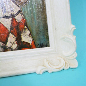 Vintage Wall Art - Vintage 1960s Eden Big Eyes Wall Art Frame